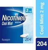 Nicotinell cool mint 2 mg kauwgom - 204 stuks - Antirookbehandeling