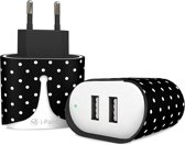 i-Paint fast wall charger Pois 3.4A met 2 usb poorten - zwart