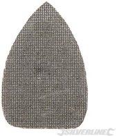 Driehoekige klittenband gaas schuurvellen, 140 x 100 mm, 10 Stuks 4 x 40, 4 x 80, 2 x 120 korrelgrofte