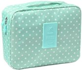 Travel 'Green Dot' Toilettas Mintgroen Stippen | Make Up Organizer/Travel Bag/Reistas | Fashion Favorite