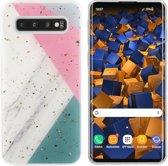 BackCover Marble Glitter voor Samsung S10 Grijs