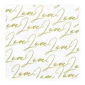 Servetten Love goud (20 stuks)
