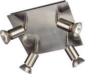 Massive Carrea Plafondspot (4-lichts) - Nikkel