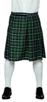 Groene Schotse kilt voor mannen - Verkleedkleding - Carnavalskleding