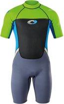 Osprey Wetsuit Origin Shorty 3/2 Mm Heren Groen/blauw Maat S