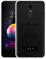 LG K30 Hoesje Mood for Food Black