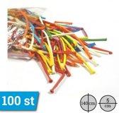Standaard Modelleer Ballonnen Assortiment Kleuren per 100 stuks doorsnede 5cm