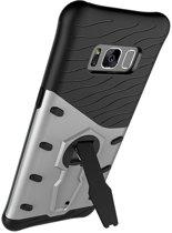 GSMWise - Samsung Galaxy S8 - Ultra Hybride Hardcase Hoesje met standaard - Zilver