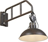QAZQA Manhatten - Wand booglamp - 1 lichts - D 650 mm - Roestbruin
