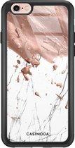 iPhone 6/6s glazen hardcase - Marble splash