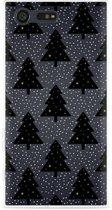 Sony Xperia X Compact Hoesje Snowy Christmas Trees