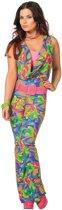 Jaren 80 & 90 Kostuum | Boogie All Night Disco Jumpsuit Lang | Vrouw | Maat 40 | Carnaval kostuum | Verkleedkleding
