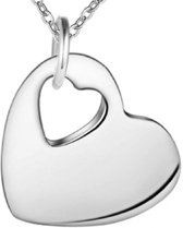 Ketting- Zilver plated- 2 cm-