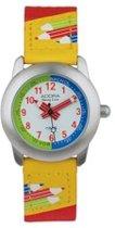 Mooi horloge voor kinderen geel en rood van hrt mer Adora-AY4362