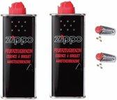 Zippo Voordeelpakket - 2x Aanstekervloeistof en 2x Vuursteentjes
