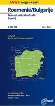 ANWB wegenkaart - Roemenië ; Bulgarije, Macedonië ; Moldavië ; Servië