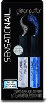 Sensationail Glitter Puffer Silver/Blue - Nagel Glitters