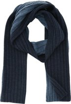 profuomo sjaal knitted scarf 2 color blue_ONESIZE, maat One size