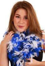 Boa brandveilig dik blauw/wit 75gr 180cm