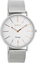 OOZOO Vintage C7396 - Horloge - Staal - Zilverkleurig - 36 mm