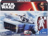 Star Wars: The Force Awakens First Order Snowspeeder voertuig + Stormtrooper figuur