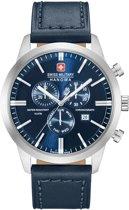 Swiss Military Hanowa 06-4308.04.003 horloge heren - blauw - edelstaal