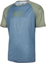 IXS Progressive 8.1 Fietsshirt korte mouwen Heren olijf/turquoise Maat M