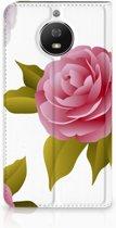 Motorola Moto G5S Uniek Standcase Hoesje Roses