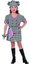 Eten & Drinken Kostuum | Traditionele Kokkin (Meisje) Kostuum | Maat 116 | Carnaval kostuum | Verkleedkleding