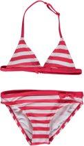 Losan Meisjes Zwemkleding Bikini Rood wit gestreept  - Maat 104