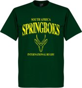 Zuid-Afrika Springboks Rugby T-Shirt - Donkergroen - S