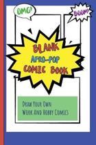 Blank Afro-pop Comic Book