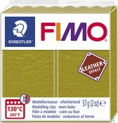 Fimo Effect leather 57 g olijf 8010-519 (04-19)