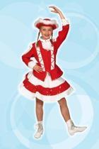 Dansmarieke - Kostuum - Maat 104 - Rood