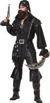 Zwart piratenkostuum voor mannen - Volwassenen kostuums