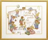 borduurpakket 15527 christl vogl, berenboek, geboorte, a.b.c.