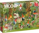 Rien Poortvliet Kabouters aan de Bosrand Jumbo Premium Quality Puzzel 1000 Stukjes