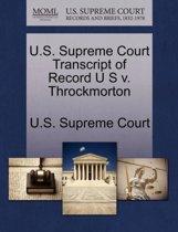 U.S. Supreme Court Transcript of Record U S V. Throckmorton