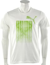 Puma - Ess Graphic Logo Tee - Wit - Maat L