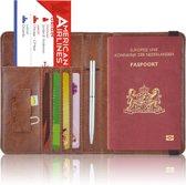 Paspoorthoesje / Paspoorthouder - V2 - Donkerbruin