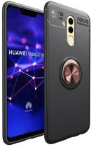 Teleplus Huawei Mate 20 Lite Ultra Soft Ravel Ring Silicone Case Rose Gold + Nano Screen Protector hoesje