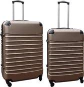 2 delige ABS kofferset 69 en 95 liter goud (228)