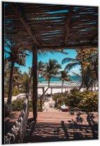 Dibond –Tropisch Strand– 80x120cm Foto op Aluminium (Wanddecoratie van metaal)