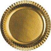 Goudkleurige borden van karton 6 stuks Pap star