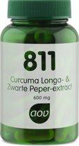 AOV 811 Curcuma longa & Zwarte peper extract 60 vegicaps - Voedingssupplement