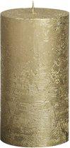 Bolsius Stompkaars Stompkaars 130/68 rustiek metallic Goud