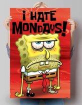 Reinders Poster Spongebob - I Hate Mondays - Poster - 61 × 91,5 cm - no. 20534