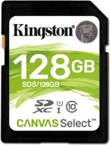 Kingston Technology Canvas Select flashgeheugen 128 GB SDXC Klasse 10 UHS-I