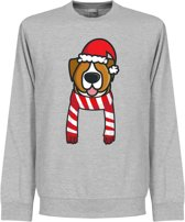 Christmas Dog Scarf Kersttrui - Rood/Wit - M