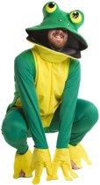 Kikker deluxe groen-geel one size